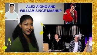"William Singe & Alex Aiono Mashup ""Fake Love, Broccoli & Caroline""  Reaction"