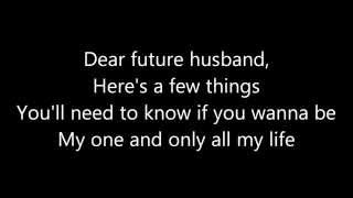 Meghan Trainor ~ Dear Future Husband Lyrics