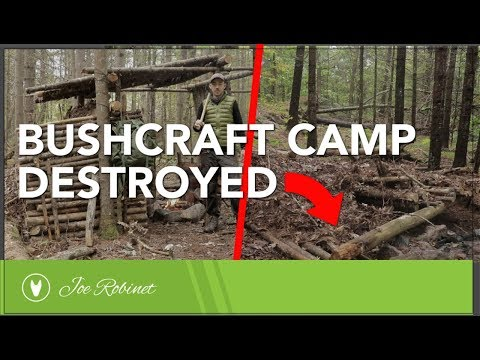Bushcraft Camp DESTROYED!