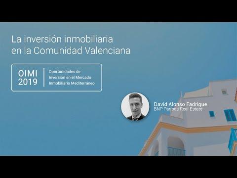 David Alonso Fadrique, Director de Research de BNP Paribas Real Estate, analiza la situación actual de inversión inmobiliaria en la Comunidad Valenciana. Esta conferencia inauguró el evento OIMI 2019 celebrado en Valencia y organizado por Rankia.