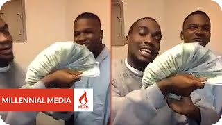 Inmates Flash Hundreds & Twenties From A Prison Cell