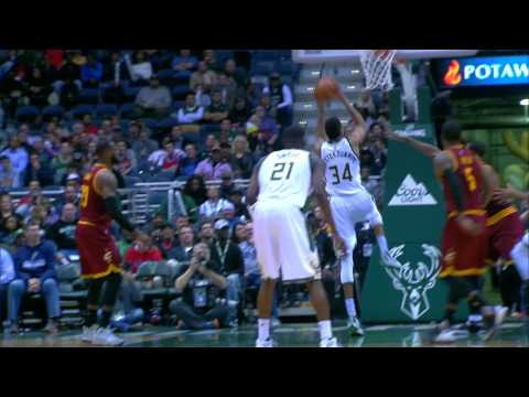 The Greek Freak Ties His Career High Of 34 Against The Cavs | 11.29.16