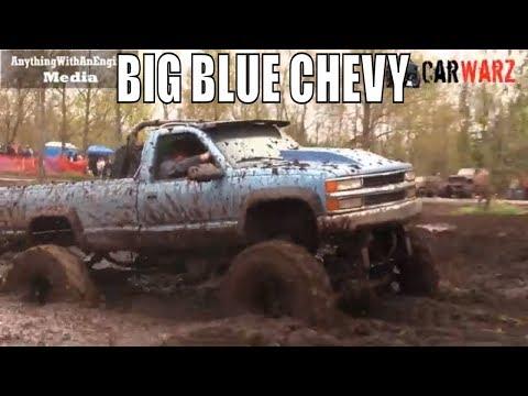 Big Blue Chevy Mega Truck Mud Bogging At Mud Madness Spring Opener 2019
