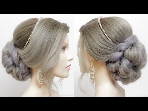 Легкая свадебная прическа. Прически на средние и длинные волосы.