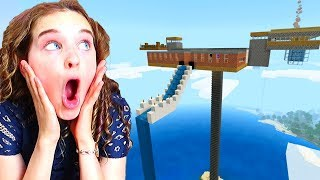 WHO BUILDS THE BEST SKY BASE in Minecraft Gaming w/ The Norris Nuts