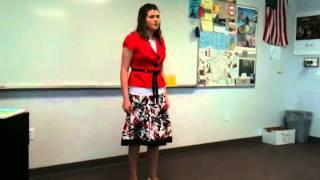 Sarah N Sings Se Tu M'ami 2011 District Finals