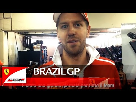Brazil Grand Prix - Video message from Seb after the win