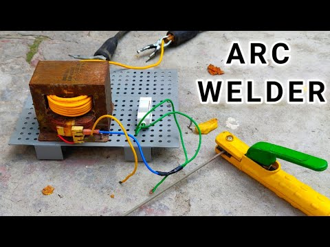 Make a 220V 200 Amps ARC Welder using Microwave Oven Transformer ( MOT )
