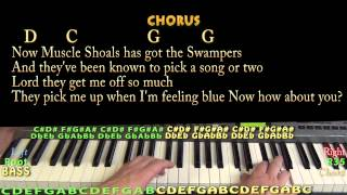 Sweet Home Alabama - Piano Cover Lesson with Lyrics and Chords