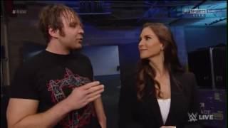 Stephanie McMahon & Dean Ambrose Backstage
