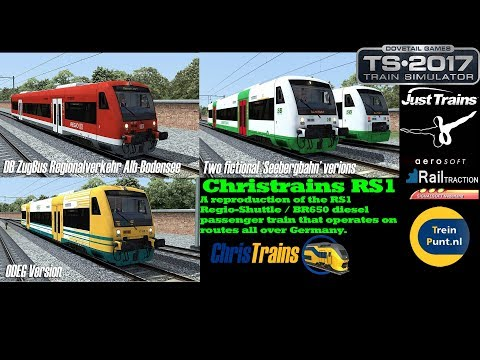 ChrisTrains Stadler RS1  Wat zit erin  Train Simulator 2017