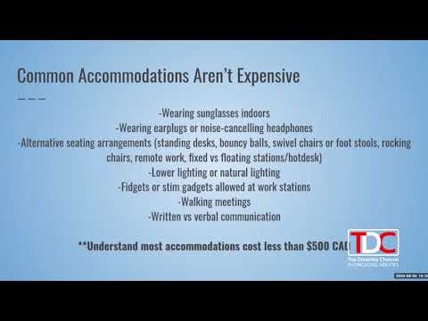 , TDC- iNOD – Kelly Bron Johnson Discusses Common Inexpensive Workplace Accomodations, Wheelchair Accessible Homes