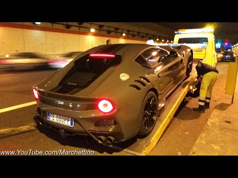 Running out of fuel in a Ferrari F12 TDF - w/ Secondotestomale