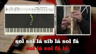 Counting Stars Karaoke das notas para flauta Educação Musical José Galvão