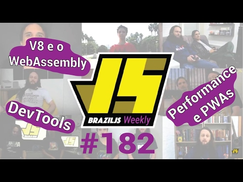 Weekly #182 - V8 e o WebAssembly, DevTools e mais sobre performance e PWAs