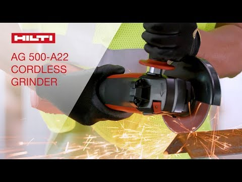 OVERVIEW of Hilti's AG 500-A22 cordless 22V angle grinder