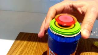 Soda Can Stirling engine (free piston) [enable subtitles in Youtube settings]