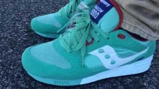 "Saucony Shadow 5000 ""Mint"" ""Cavity Pack"" on feet"