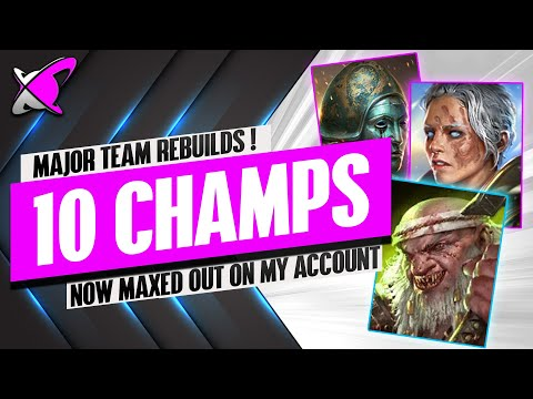 I MAXED OUT & REBUILT 10 CHAMPS FOR THIS!! | My Latest Team Rebuilds | RAID: Shadow Legends