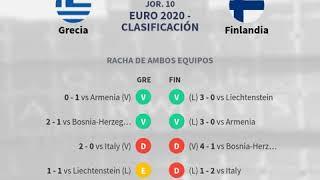 Previa Grecia vs Finlandia - Jornada 10 - Euro 2020 - Clasificación 20... - Pronósticos y...
