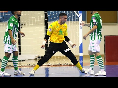 Nico Sarmiento, el doble 'Guante de Oro' del Real Betis Futsal