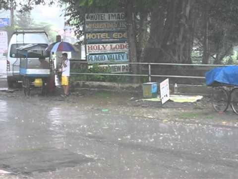 Monsoon rain.