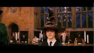 Harry Potter geting sorted into Gryffindor by Sorting Hat