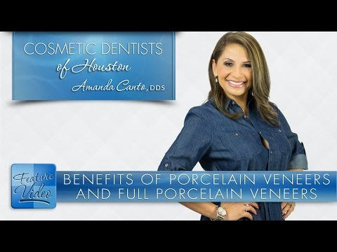 Benefits of Porcelain Veneers and Full Porcelain Crowns -­ Cosmetic Dentists of Houston