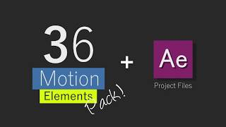36 Motion graphic elements pack + AE Project file