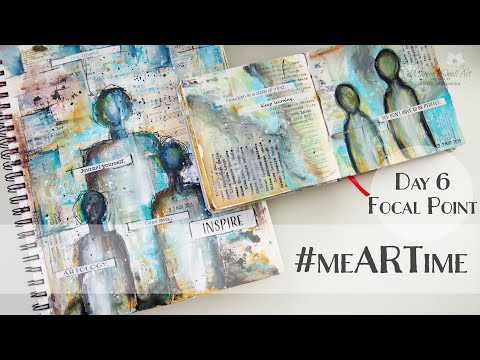 #meARTime Painting FOCAL POINT for Art Journal Page Day #6 ♡ Maremi's Small Art ♡