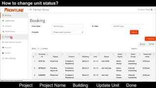 How to change a unit status ? Frontline (Sales Admin)