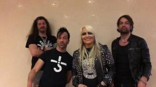 Doro & Band Video greet to the Fans in Sweden