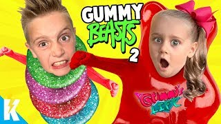Gummy Gang Beasts 2 (A Gummy's Life SOUR Challenge!) KIDCITY GAMING