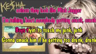 Ke$ha - Tik tok karaoke com back vocal