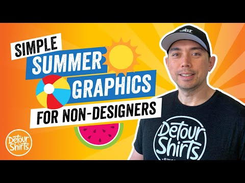 Simple Summer Graphics for Non-Designers. How to create Clipart for T-Shirts using Affinity Designer