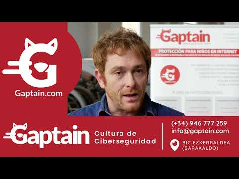 Vídeo Gaptain. Educación y Seguridad digital para familias y colegios