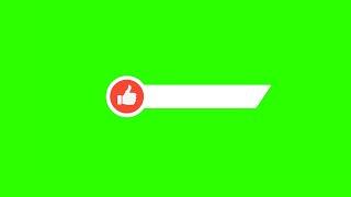 Barras de Like #1 - Like Lower Thirds #1 [Fundo Verde - Green Screen]