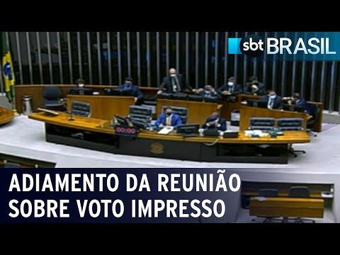 Manobra adia reunião sobre voto impresso na Câmara   SBT Brasil (16/07/21)