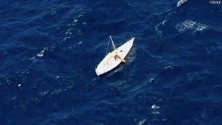 Air passengers spot man stranded at sea