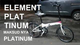Sepeda Lipat Element Platinum Alloy 20 inch 7 speed #627