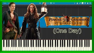 One Day - Pirates of the Caribbean (Piano Tutorial)