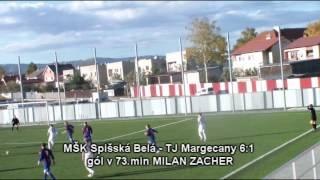 MŠK Spišská Belá A - TJ Lokomotíva Margecany 8:1 (2:0)