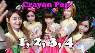Crayon Pop (크레용팝) 1,2,3,4 English Version (HD)