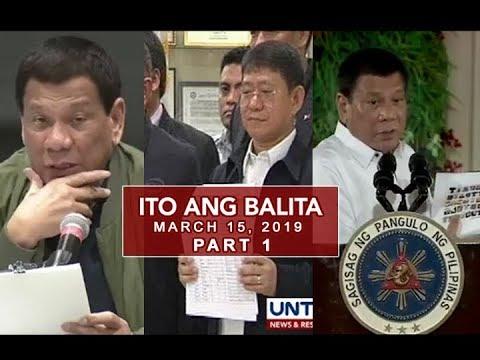 UNTV: Ito Ang Balita (March 15, 2019) PART 1