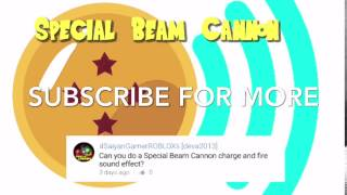 Special Beam Cannon Sound Effect Dragon Ball Z