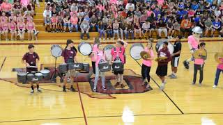 White Oak High School Band Pink Out Pep Rally 2017