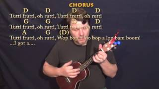 Tutti Frutti (Little Richard) Ukulele Cover Lesson in D with Chords/Lyrics
