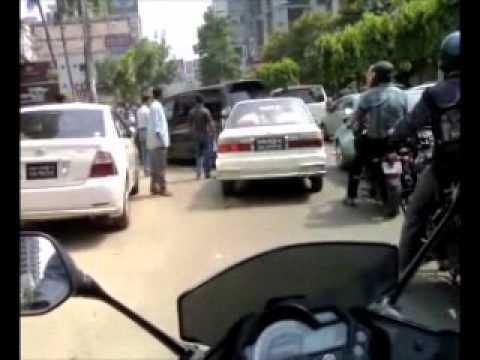 Biking in Dhaka Traffic (Gulsha-2, Gulshan-1, Tejgaon)