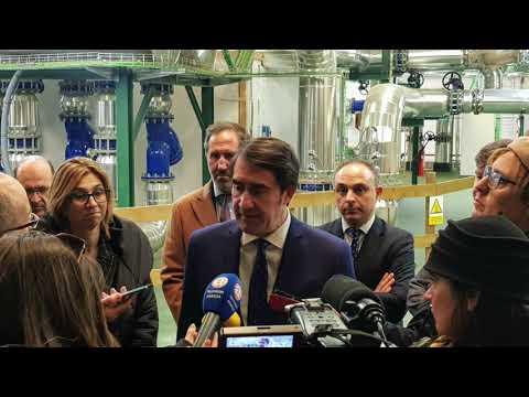 REBI SLU: El consejero de Medio Ambiente de la Junta de Castilla y León Juan Carlos Suárez-Quiñones visita la Red de Calor Aranda de Duero