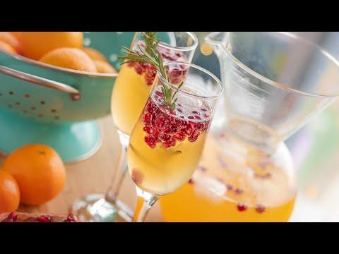 Для праздничного настроения! Мандариновая МИМОЗА | праздничный коктейль | новогоднее меню 2021